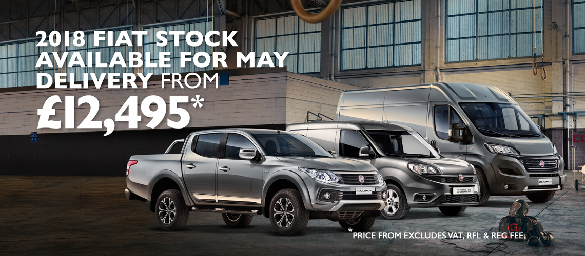 We have a great range of Fiat Professional vehicles ready for May delivery