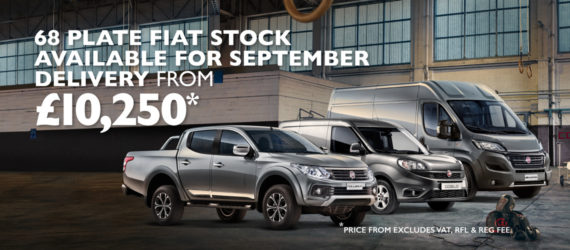 We have a great range of Fiat Professional vehicles ready for September delivery