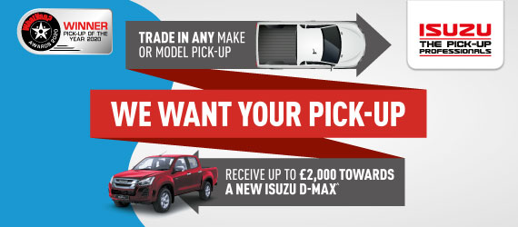 Receive up to £2,000 towards a new Isuzu D-Max